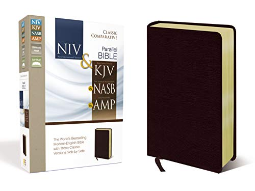 9780310436775: Classic Comparative Side-By-Side Bible: New International Version, King James Version, New American Standard Bible, Amplified, Burgundy Bonded Leather Classic Comparative: The World's Bests