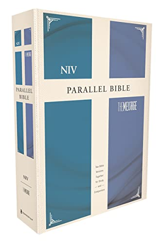Niv, The Message Side By Side Bible, Hardcover: Two Bible Versions Together For Study And Comparison