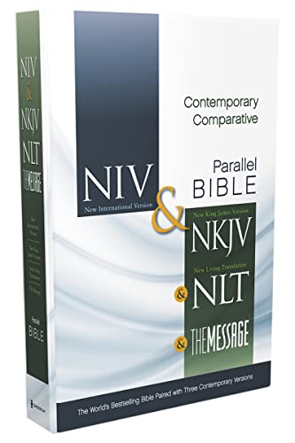 9780310436928: NIV, NKJV, NLT, The Message, Contemporary Comparative Study Side-by-Side Bible, Hardcover: The World's Bestselling Bible Paired with Three Contemporary Versions