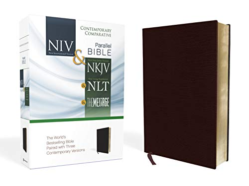 9780310436935: NIV, NKJV, NLT, The Message, Contemporary Comparative Parallel Bible, Bonded Leather, Burgundy: The World's Bestselling Bible Paired with Three Contemporary Versions