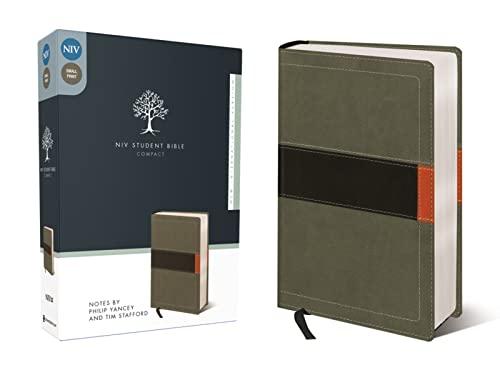 9780310437161: NIV, Student Bible, Compact, Imitation Leather, Gray/Green
