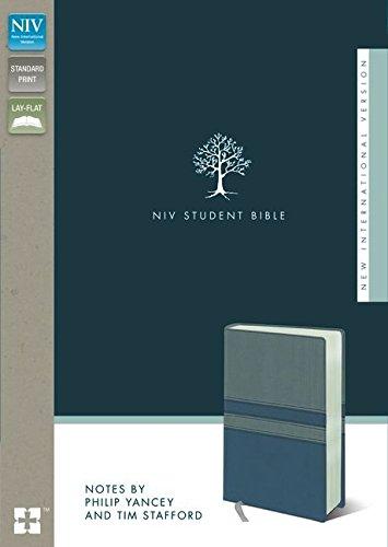9780310437291: NIV, Student Bible, Imitation Leather, Gray/Blue