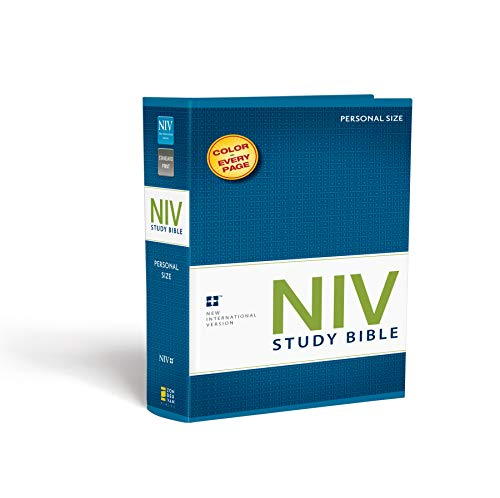 9780310437338: NIV Study Bible: New International Version, Personal Size, with Full Color Photos, Charts & Maps