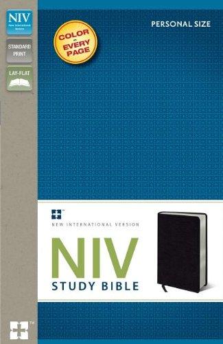 9780310437345: NIV Study Bible: New International Version, Black, Bonded Leather, Personal Size