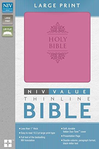 9780310437703: NIV, Value Thinline Bible, Large Print, Imitation Leather, Pink