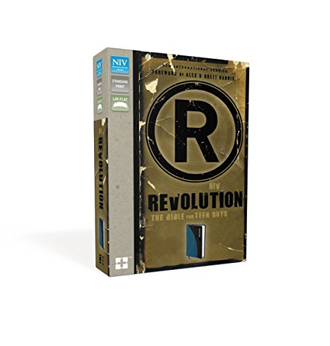 9780310437819: NIV, Revolution: The Bible for Teen Guys, Leathersoft, Blue/Charcoal: Updated Edition