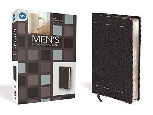 9780310437864: NIV, Men's Devotional Bible, Compact, Imitation Leather, Black