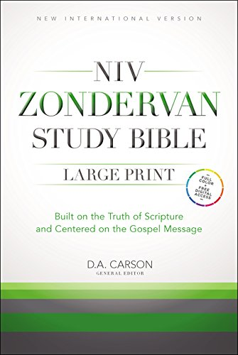 9780310438281: NIV Zondervan Study Bible, Large Print, Hardcover: Built on the Truth of Scripture and Centered on the Gospel Message