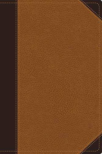 9780310438298: NIV Zondervan Study Bible, Large Print, Leathersoft, Brown/Tan: Built on the Truth of Scripture and Centered on the Gospel Message