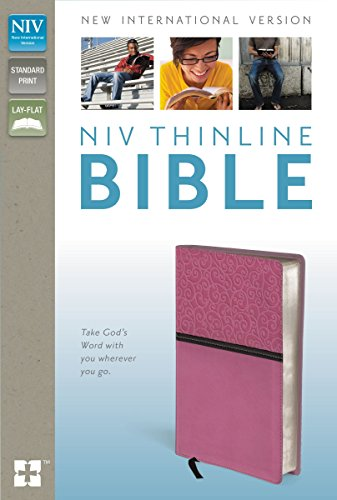 9780310438533: NIV, Thinline Bible, Imitation Leather, Pink/Brown, Red Letter Edition