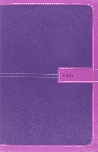 9780310438540: NIV, Thinline Bible, Imitation Leather, Pink/Purple, Red Letter Edition