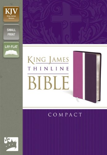 9780310439172: KJV, Thinline Bible, Compact, Imitation Leather, Pink/Purple, Red Letter Edition