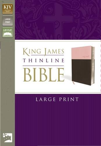 9780310439264: KJV, Thinline Bible, Large Print, Imitation Leather, Pink/Brown, Red Letter Edition