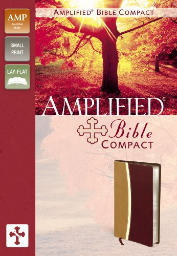 9780310439332: Amplified Bible, Compact, Imitation Leather, Tan/Burgundy