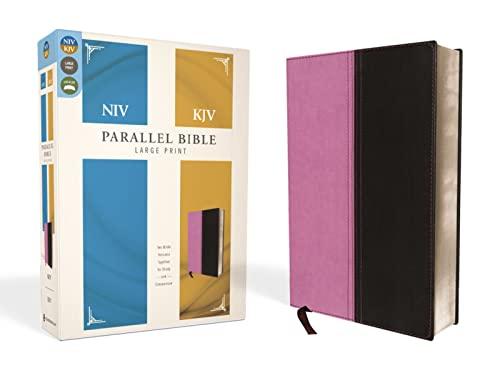9780310439356: NIV, KJV, Parallel Bible, Large Print, Imitation Leather, Pink/Brown: The World's Two Most Popular Bible Translations Together