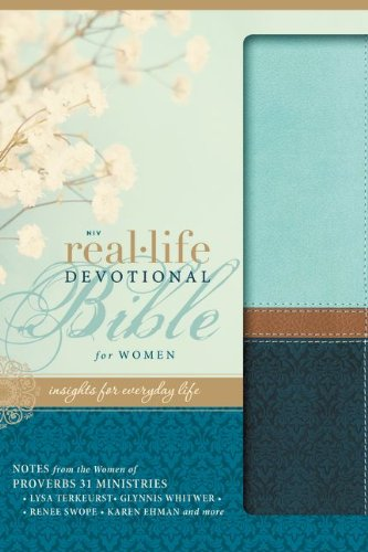9780310439370: NIV, Real-Life Devotional Bible for Women, Imitation Leather, Turquoise: Insights for Everyday Life