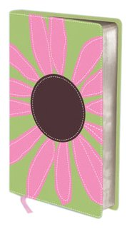 9780310440949: KJV, Thinline Bloom Collection Bible, Compact, Imitation Leather, Green/Pink, Red Letter Edition