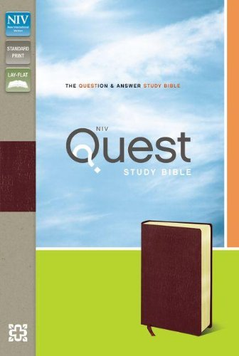 9780310441588: Quest Study Bible: New International Version, Burgundy, Bonded Leather, The Question & Answer Study Bible