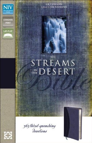 9780310441854: NIV, Streams in the Desert Bible, Imitation Leather, Blue: 365 Thirst-Quenching Devotions