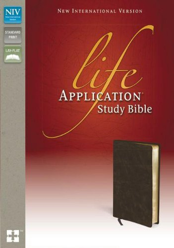 9780310442257: NIV, Life Application Study Bible, Bonded Leather, Brown