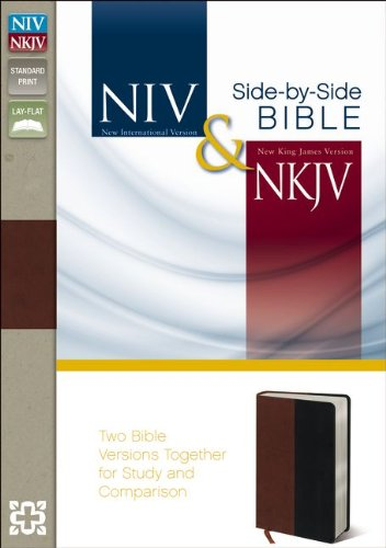 9780310442448: NIV, NKJV, Side-by-Side Bible, Imitation Leather, Brown/Black: Two Bible Versions Together for Study and Comparison