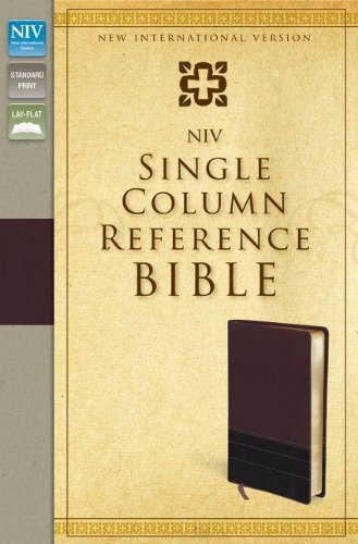 9780310442493: NIV, Single-Column Reference Bible, Imitation Leather, Burgundy