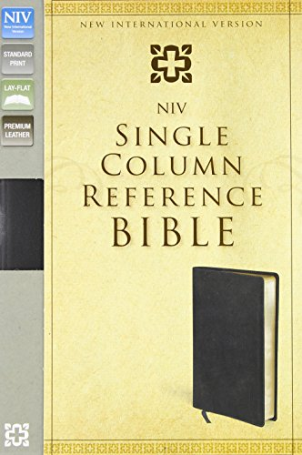 NIV, Single-Column Reference Bible, Premium Leather, Black: Zondervan
