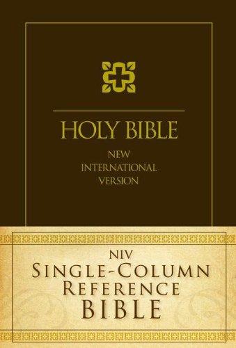 9780310442523: NIV, Single-Column Reference Bible, Hardcover
