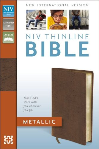 9780310442547: NIV, Thinline Bible Metallic, Bonded Leather, Red Letter Edition