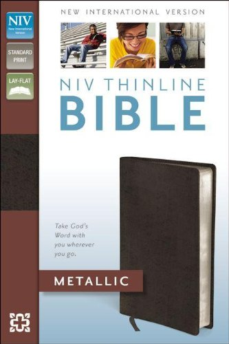 9780310442561: NIV Thinline Bible Metallic, Bonded Leather, Red Letter Edition