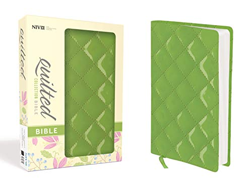 9780310443025: NIV, Quilted Collection Bible, Compact, Imitation Leather, Green