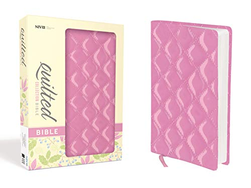 9780310443087: NIV, Quilted Collection Bible, Imitation Leather, Pink, Red Letter Edition