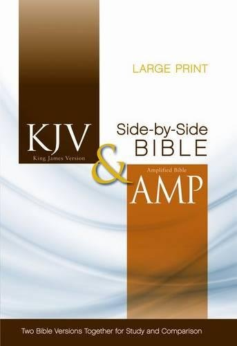 9780310443308: KJV, Amplified, Parallel Bible, Large Print, Hardcover, Red Letter Edition: Two Bible Versions Together for Study and Comparison