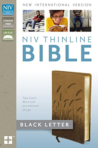9780310443483: NIV, Thinline Bible, Imitation Leather, Tan/Brown
