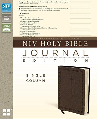 9780310443667: NIV, Holy Bible, Journal Edition, Imitation Leather, Brown