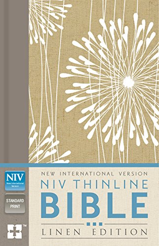 9780310443698: NIV, Thinline Bible, Linen Edition, Hardcover, Tan/White Linen, Red Letter Edition