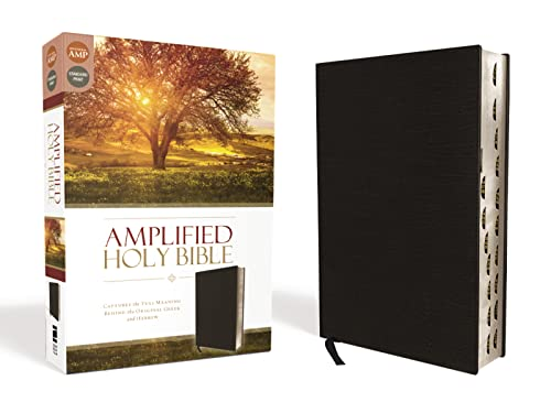 9780310443933: Amplified Holy Bible, Bonded Leather, Black, Indexed: Captures the Full Meaning Behind the Original Greek and Hebrew