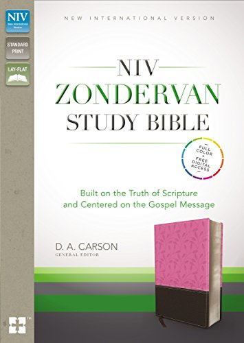 9780310444770: NIV, Zondervan Study Bible, Imitation Leather, Pink/Brown, Indexed: Built on the Truth of Scripture and Centered on the Gospel Message