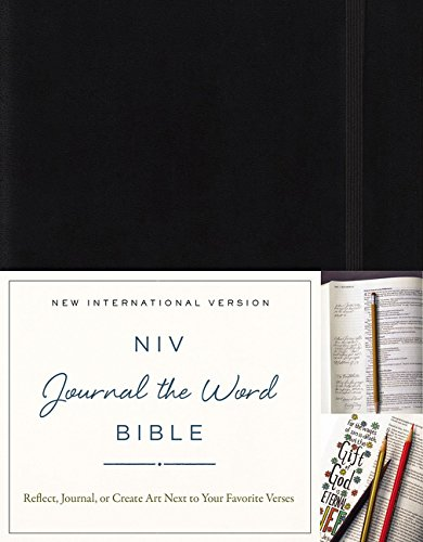 NIV, Journal the Word Bible, Hardcover, Black: Reflect, Journal, or Create Art Next to Your ...