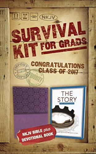 9780310446767: NKJV, 2017 Survival Kit for Grads, Girls' Edition, Purple, Red Letter Edition