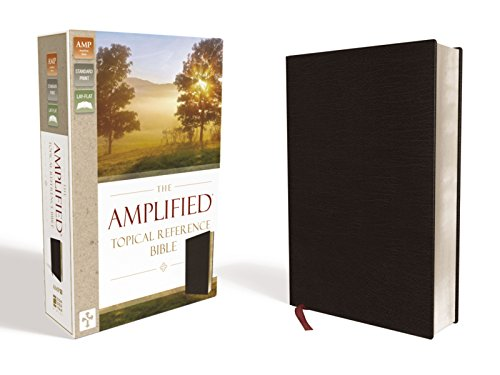 9780310446866: Amplified Topical Reference Bible, Bonded Leather, Black