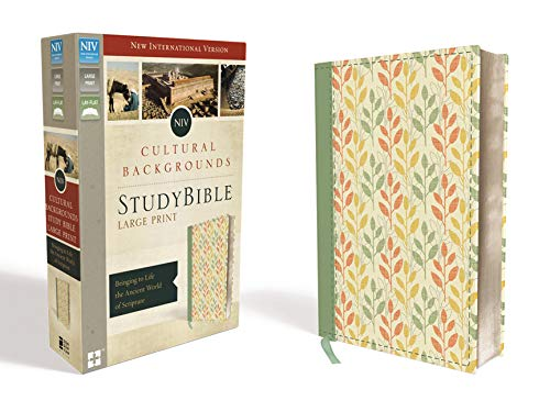 9780310447948: NIV, Cultural Backgrounds Study Bible, Large Print, Leathersoft, Green, Red Letter Edition: Bringing to Life the Ancient World of Scripture