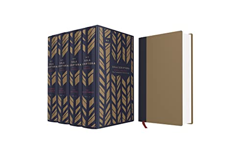 9780310448129: NIV, The Sola Scriptura Bible Project: The Complete Collection, Cloth over Board, Navy/Tan: Rediscover the Holy Art of Reading