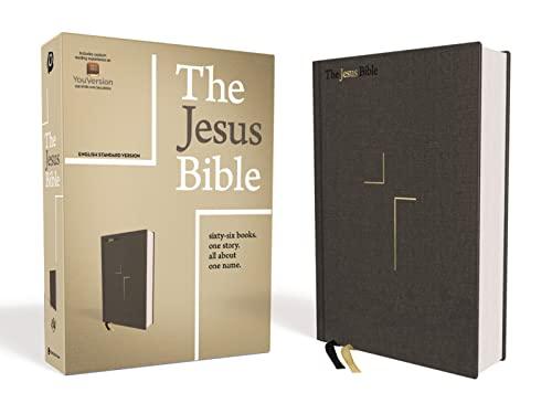 9780310452201: The Jesus Bible, ESV Edition, Cloth over Board, Gray