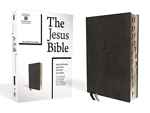 9780310452287: The Jesus Bible, NIV Edition, Leathersoft, Black, Thumb Indexed, Comfort Print