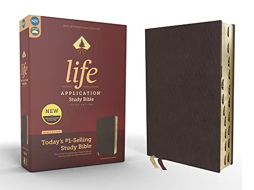 9780310452768: Niv, Life Application Study Bible, Third Edition, Bonded Leather, Burgundy, Indexed, Red Letter Edition