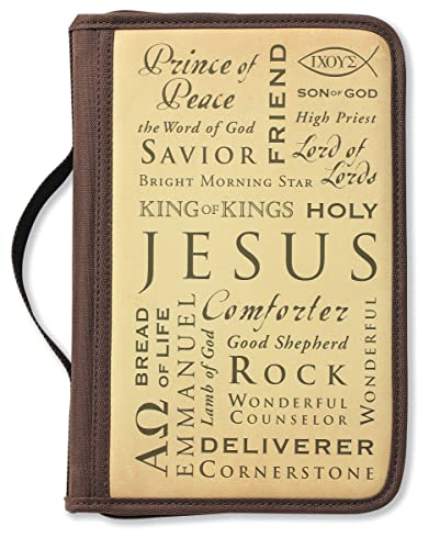Inspiration Names of Jesus Brown Large Book and Bible Cover (9780310520023) by Zondervan