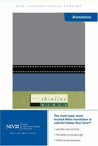 9780310606055: NIV Thinline Slate/Gray Duo Tone - Lifeway