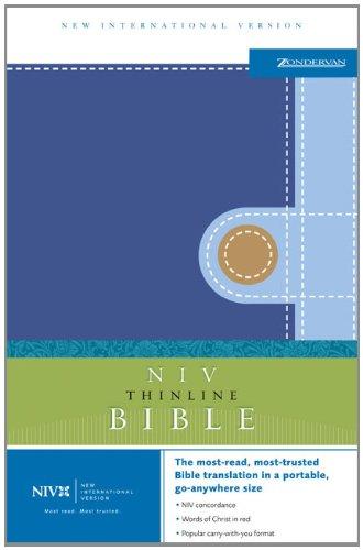 9780310608288: NIV Gift Bible Horizon Blue/Light Blue/Camel - Wal-Mart