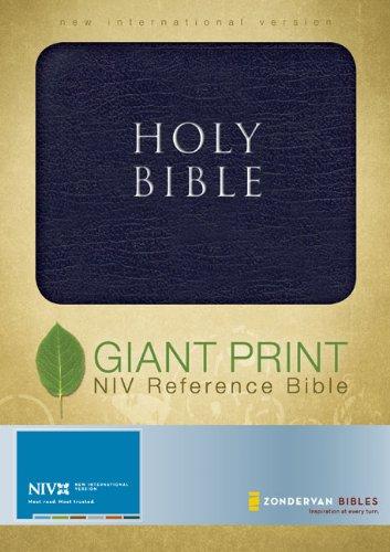 9780310611035: NIV Giant Print Reference Bible, Navy